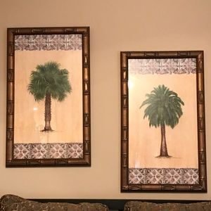 Palm Tree Water Color Paintings